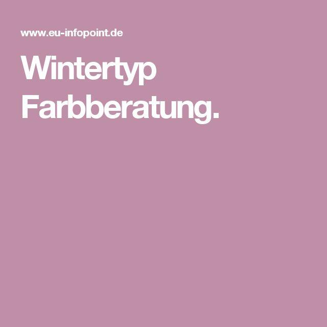 Wintertyp Farbberatung.