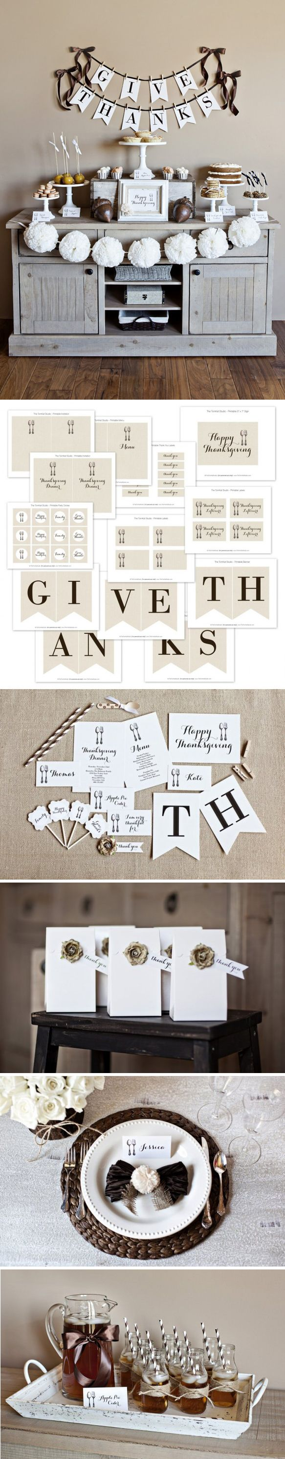 GiveThanks Collection 2012 - free printables from TheTomkat Studio http://www.thetomkatstudio.com/thanksgivingprintables/