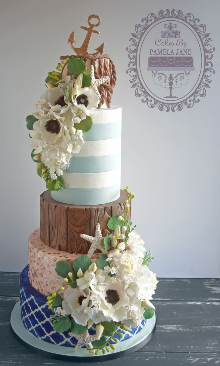 The 169 best Cakes: Sea/Beach/Island images on Pinterest | Conch ...