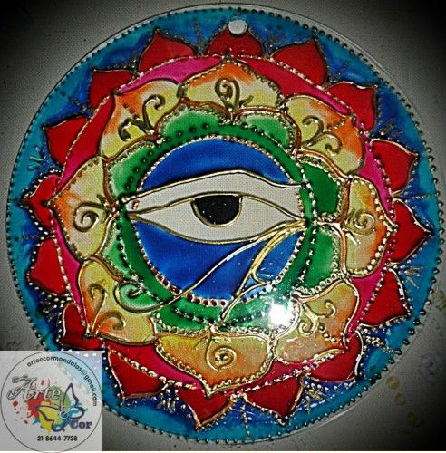 Mandala de energia em vidro - Classificados de Artesanato da Vila - Compra e Venda de Artesanato
