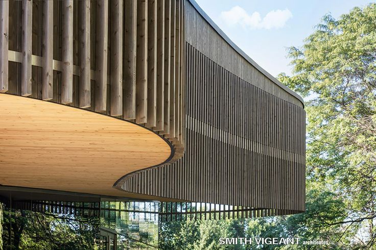 Architecture detail Wooden veil Site-inspired design Smith Vigeant Architectes