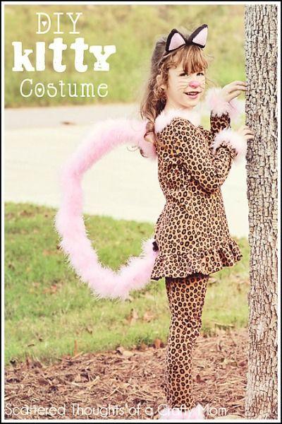 Easy DIY cat costumes at www.crayonsandcollars.com