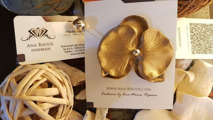 Brosa Orhidee #ANA0005 - Brosa Orhidee Handmade.  - Bijuterii Handmade - Ana Bijoux Handmade | Ana-Bijoux.com | Ana Bijoux Group
