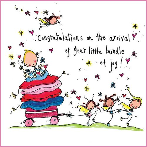 congratualtions on the arrival of your little bundle of