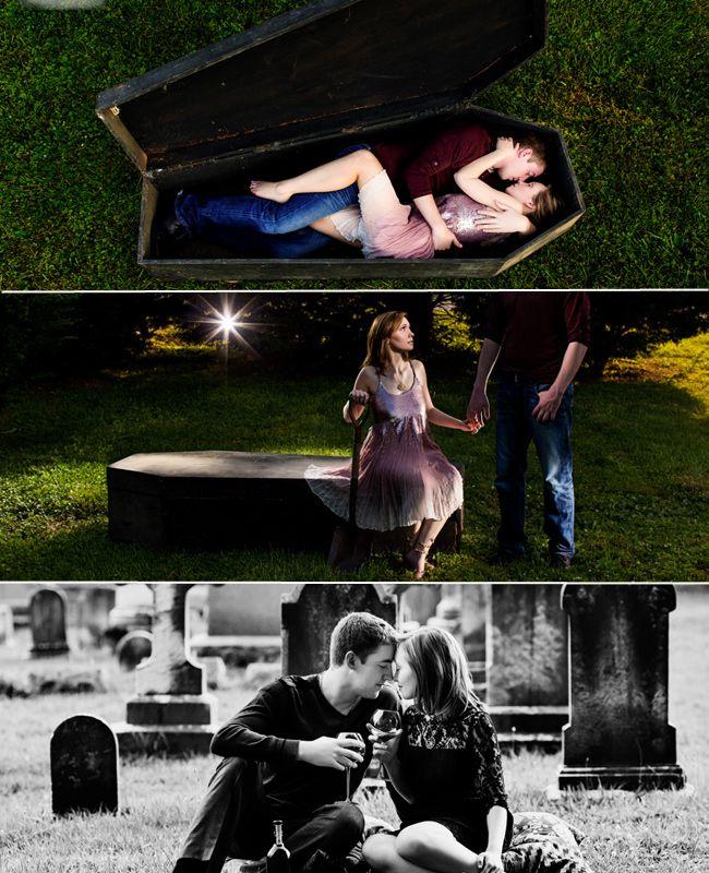 """True Blood"" romance... Creepy Halloween Engagement Photo Ideas"
