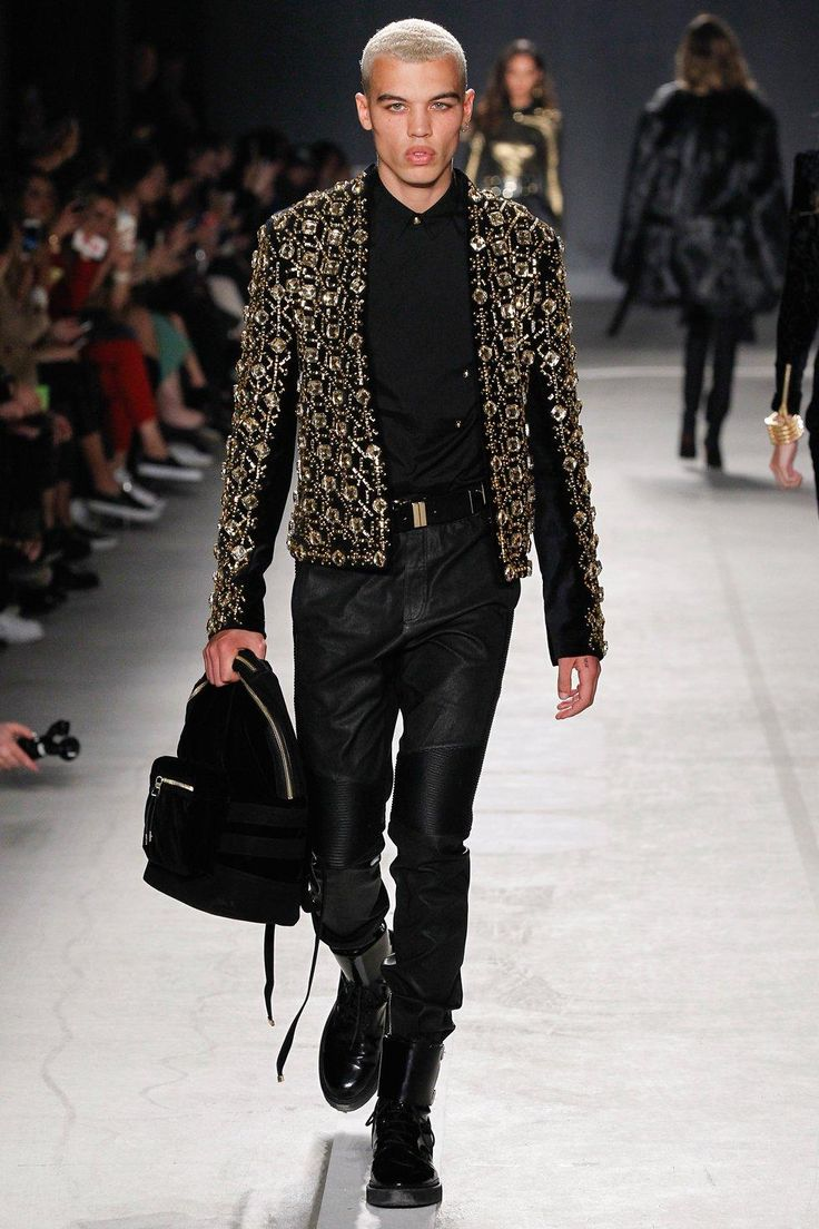 See every look from the Balmain x H&M Collaboration Collection runway show