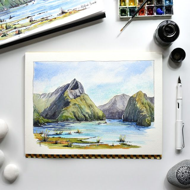 Milford Sound Painting Milford Sound Milford