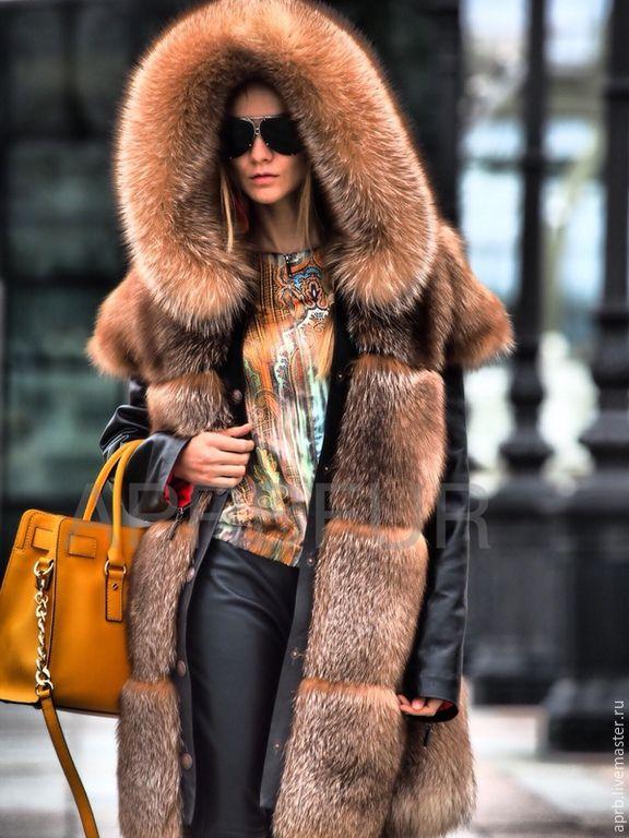 Купить Жилетка меховая трансформер с съемным капюшоном и рукавами - куртка, куртка женская, куртка с капюшоном