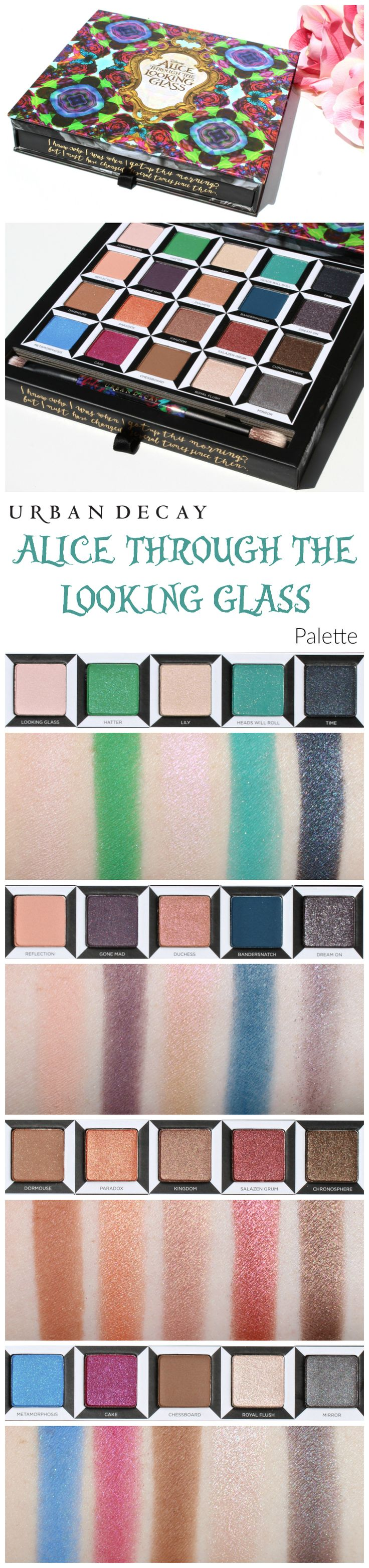 Urban Decay Alice Through The Looking Glass Palette Review, Photos, Swatches