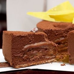 Adriano Zumbo's Chocolate Mousse Cake, as seen on the Masterchef Australia show. Opportunity to purchase cake won by lottery.