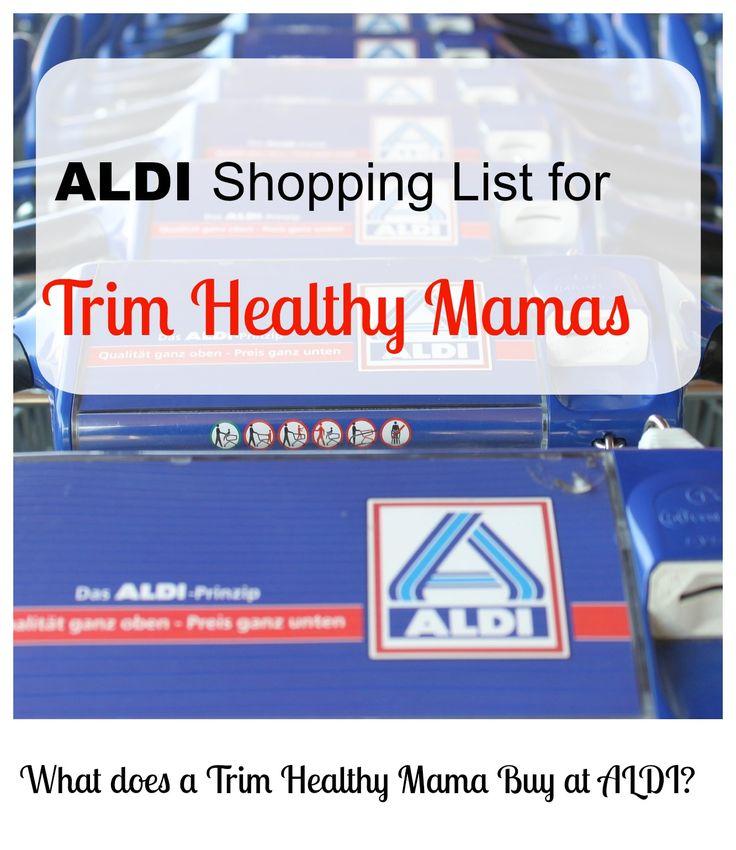 Free ALDI shopping list printable for Trim Healthy Mamas #thm #trimhealthymama #aldi