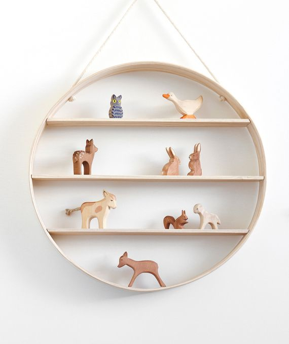 Circle shelf in white ash by Bride&Wolfe