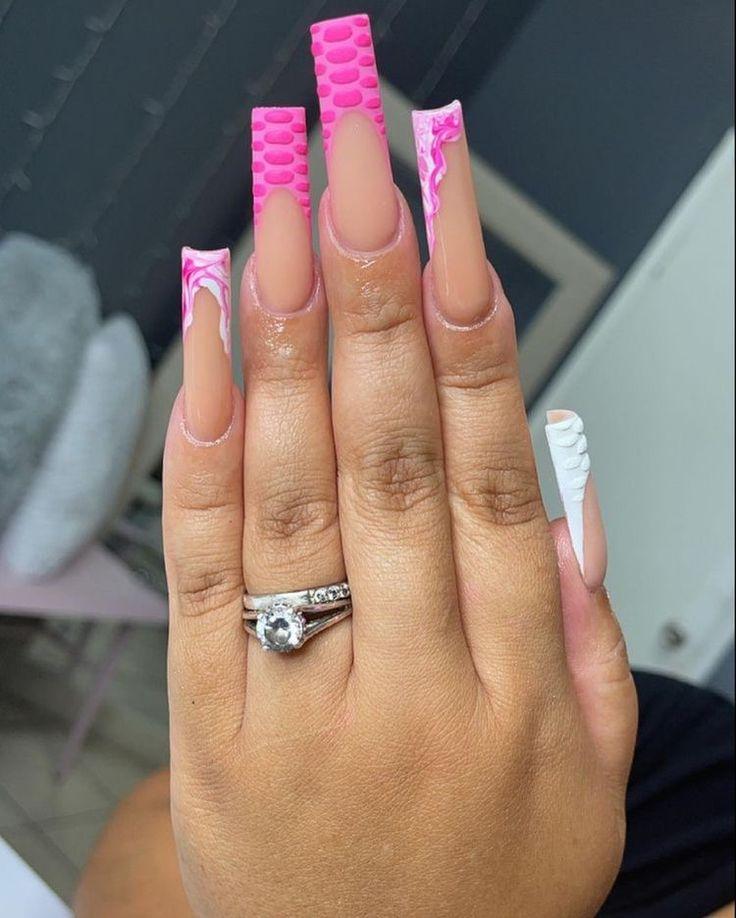 Gender reveal nails nail art / Nailsome