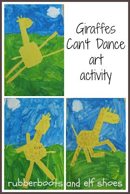 Giraffes Can't Dance is a fabulous book.  Create a dancing Gerald  - they are just too cute.