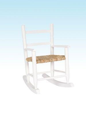 Kids White Wooden Rocker | Nursery Furniture | Baby Accessories Ireland | Cribs.ie