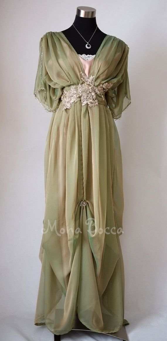 Edwardian dress Downton Abbey inspired handmade in England dress Lady Mary styled Express delivery $269.83 AT vintagedancer.com