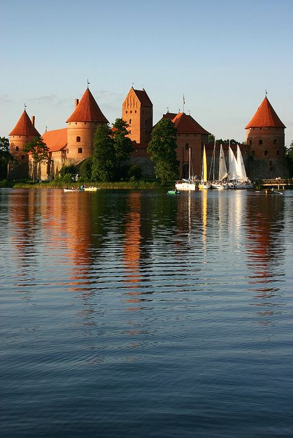 Trakai Castle, Lithuania, there is a large number of castles in Lithuania. This is considered the most beautiful of the Lithuanian castles and it is also the most famous one. This castle was of great strategic importance in the 15th century. Many of the Islamic castles were built as a strategic military structure.