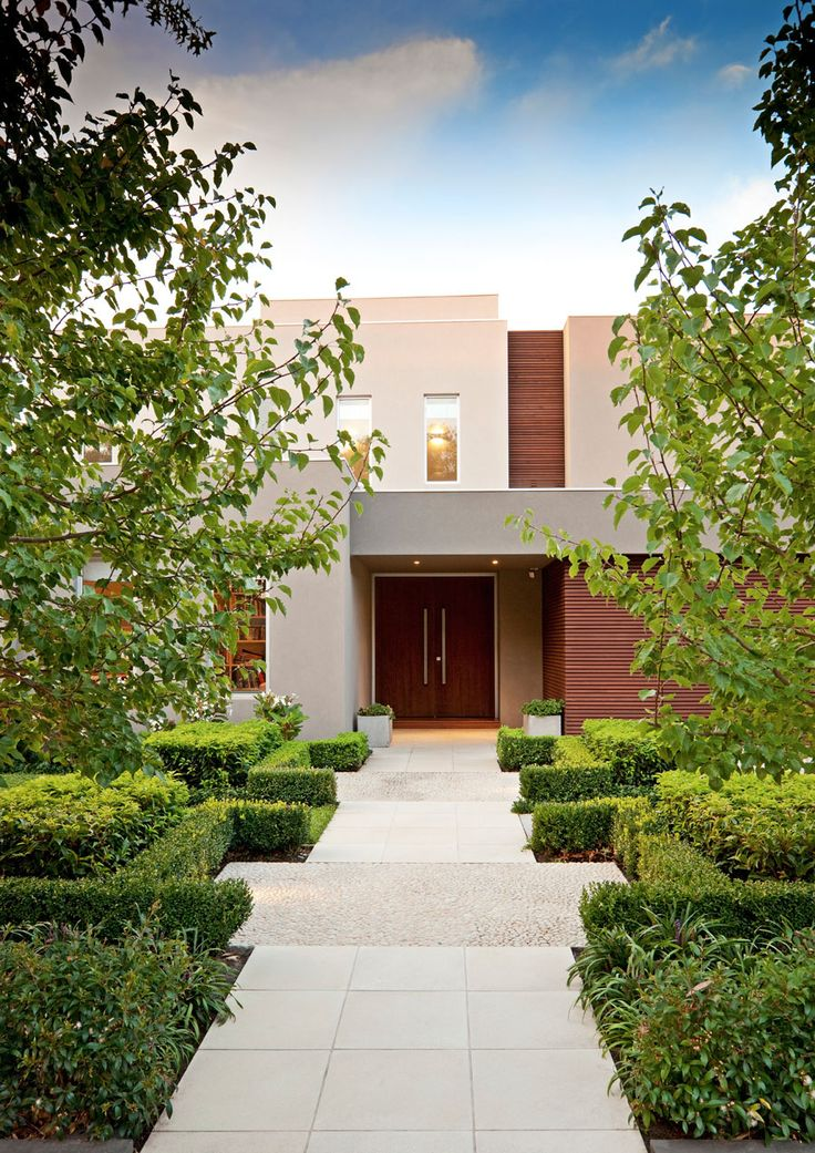 Vegetation and Front Door Less Is More: Dream Home Featuring An Impeccable Minimalistic Design