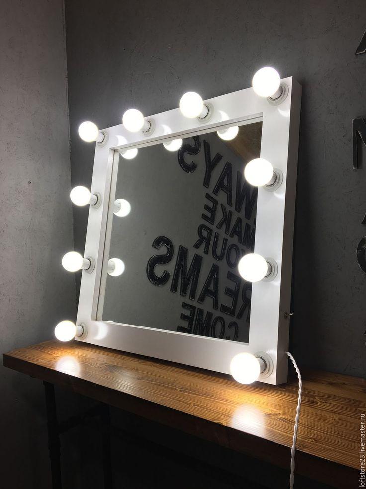 Купить Гримерное зеркало RIM 70/70 - белый, зеркало, белое зеркало, гримерное зеркало