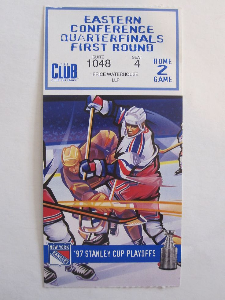 NEW YORK RANGERS FLORIDA PANTHERS 1997 STANLEY CUP EASTERN CONF.TICKET STUB