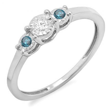 Little Treasures 0.20 Carat (ctw) 18 ct Yellow Gold Round Diamond Ladies Wedding Band Stackable Ring 1/5 CT P1rTYmjOf