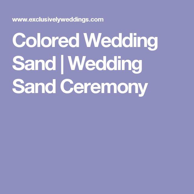 Colored Wedding Sand | Wedding Sand Ceremony