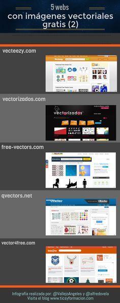 5 webs con imágenes vectoriales gratis (2) #infografia #infographic #design vía ticsyformacion.com