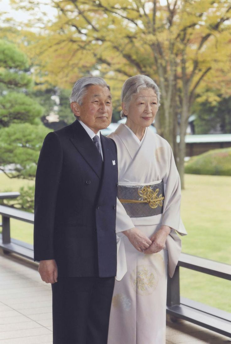 The Emperor of Japan Akihito and his wife Empress Michiko pose for official portraits at the Imperial Palace in Tokyo 22.12.13 on the occasion of 80 years of the monarch.