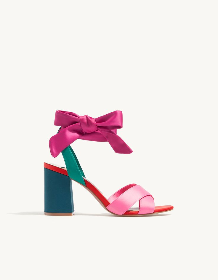 High heel satin sandals - All | Stradivarius United Kingdom