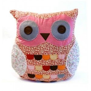 Owl Pillow - Pink  #russiandoll #matryoshka #dollsindolls #decor #traditional #kids #toys #handmade