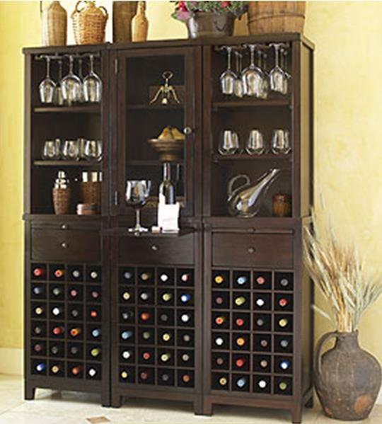 the wine pockets on the bottom area  one row of wine glasses above  with  bookshelves going the rest of the way up  different shelf locations  build  on both. 33 best wining room images on Pinterest   Wine storage  Wine