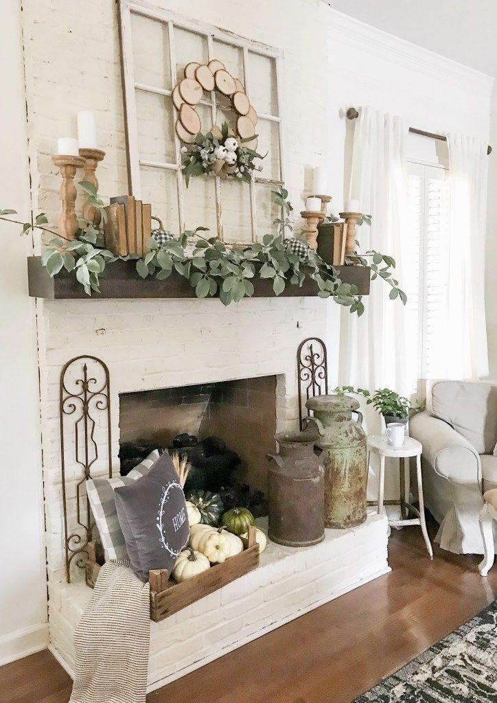 My Fall Mantel Decor With Joann Fall Mantel Decorations Living