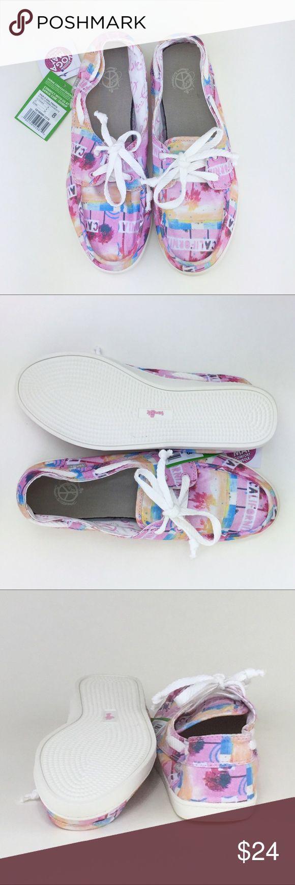 Sanuk Pair O Sail Prints Boat Shoe NWT