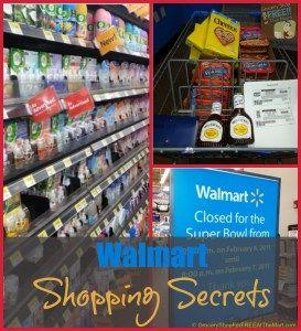 Walmart Shopping Secrets http://www.groceryshopforfreeatthemart.com/resources/walmart-shopping-secrets/