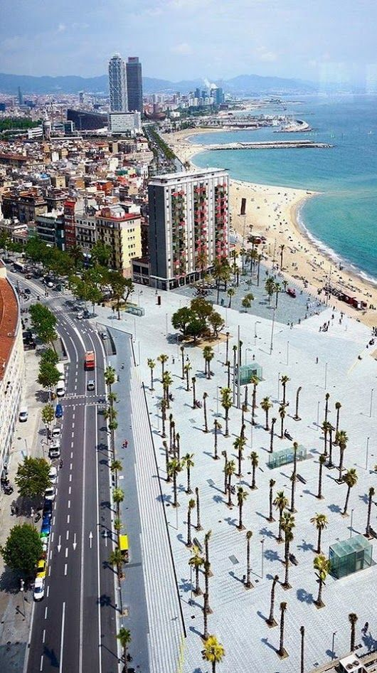 #didyouknow that many of Barcelona's beaches are actually man-made? As part of the city's huge regeneration project for the 1992 Olympic Games sand and ... - AB Apartment Barcelona - Google+