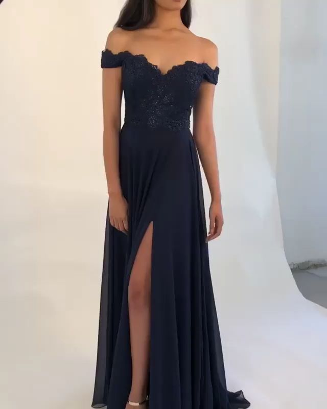 Pin auf Dunkelblau AbendKleid Ballkleid