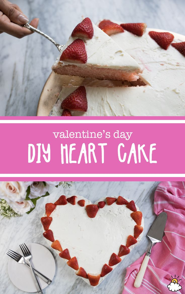This DIY heart-shaped Valentine's Day cake doesn't require a heart-shaped cake pan! Follow our easy steps to tastiness and create a lovely Valentine's Day cake for the special person in your life.