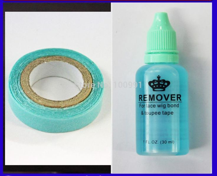 [Visit to Buy] 1 bottle 30ml adhesive remover for Skin tape hair/ PU skin weft hair extensions and Blue tape glue #Advertisement