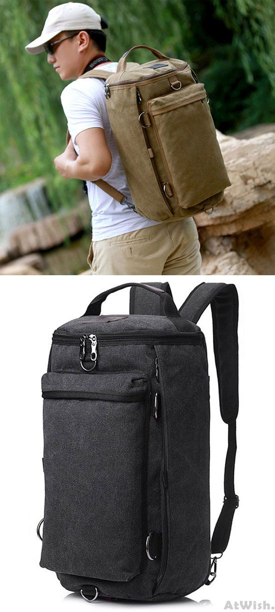 3f4e75d6942b Retro Multifunction Gym Shoulder Bag Canvas Camping Backpack Men Large  Bucket Travel Outdoor Rucksack for big sale!  backpack  bag  retro  school   college ...