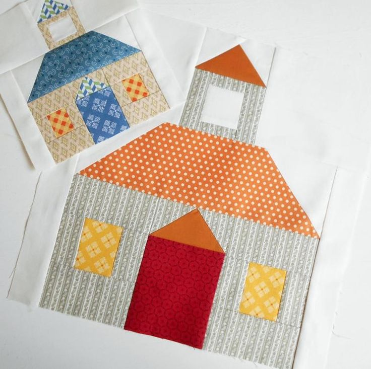 """Patchsmith's Schoolhouse Block Pattern.  Make it small (6"""") or make it large (12"""") - either way you are sure to go to the top of the class."""