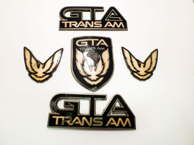 Pontiac Trans Am GTA Emblem Set 1987