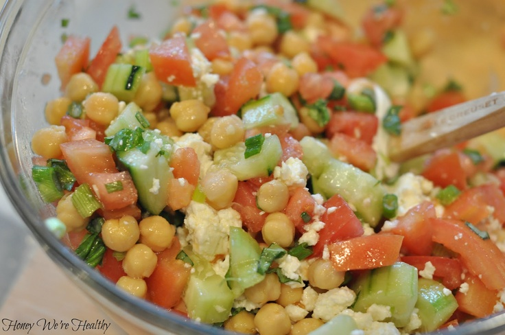 Mediterranean Chickpea Salad. | Vegetables | Pinterest