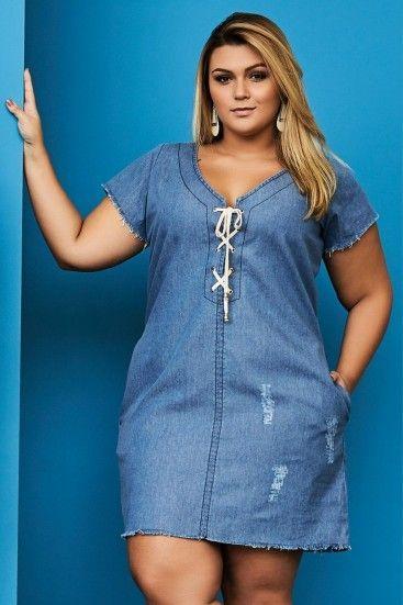 3ffce42610 Resultado de imagen para blusones largos de jeans para gorditas ...