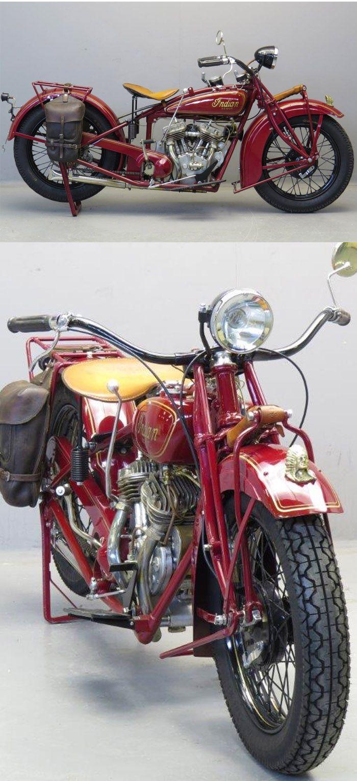 Indian 101 Scout 1930 750 cc side valve V-twin frame & engine