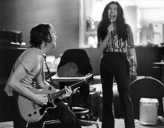 John was in thrall to Yoko's ability to harmonise with the screeches he was able to create with his guitar.  http://johnlennononline.blogspot.com