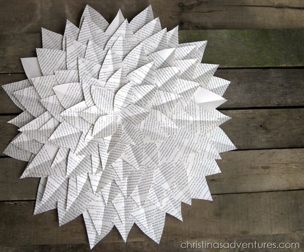 best 25 book page flowers ideas on pinterest - Book Page Decorations