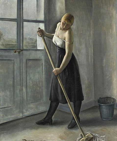 Girl-at-Work-1933-by-François-Emile-Barraud