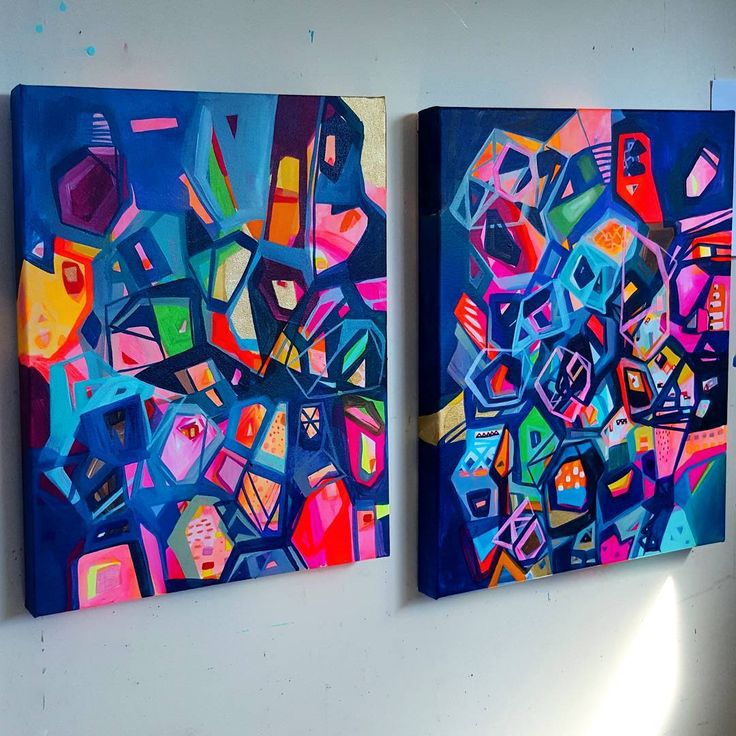 """1,317 Likes, 33 Comments - Alicia Beech (@aliciabeech.art.nz) on Instagram: """"These 2 playing nicely together. Now back to the big boys . .  #abstractart #abstractpainting…"""""""