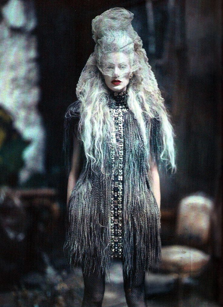 """""""The Grand Couture"""": Kristen McMenamy by Paolo Roversi for Vogue Italia Sept 2010"""