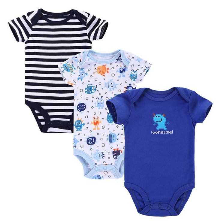 Dekat Cutest 3 pcs/lot 2017 Bayi Rompers Baru Lahir Bayi Laki-laki Perempuan Pakaian Roupa Infantil Menino Recem Nascido Jumpsuit Bayi Pakaian